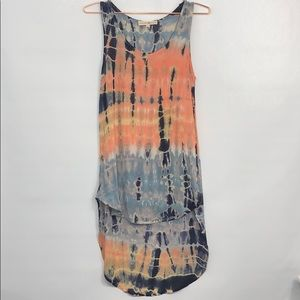 Altar'd State Tie-Dye Sleeveless High-Low Top